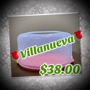 TUPPERWARE ROUND CAKE TAKER-IN GUAVA DOMED COLOR